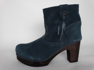 Sanita Wood Viva Medium Flex Boot Waxed Nubuck Blue