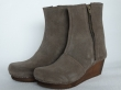 Sanita Wood Lila Wedge Flex Boot Suede Taupe