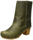 Sanita Wood Pia Block Flex Boot Milled Leather Olive