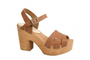 Sanita Wood Pax Chunk Sandal Full Grain Leather Nature