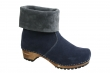 Sanita Wood Charlotta Boot Suede Navy/Grey